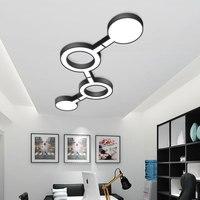 Nordic Design Ceiling Lights Modern Led Ceiling Lamp for Living Room Bedroom Office Geometry Acryl Luminarie Home Lighting Decor