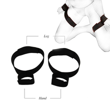 BDSM Adult Toys Sex Handcuff Wrist to Leg Cuffs Slave Fetish Sextoy Femme bdsm Restraints Handcuffed Sex Toy For Couple