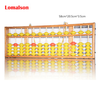 Lomalson Abacus Learning Resources 13 column Chinese Soroban Caculator Classic Wooden Educational Counting Toy Maths Learning