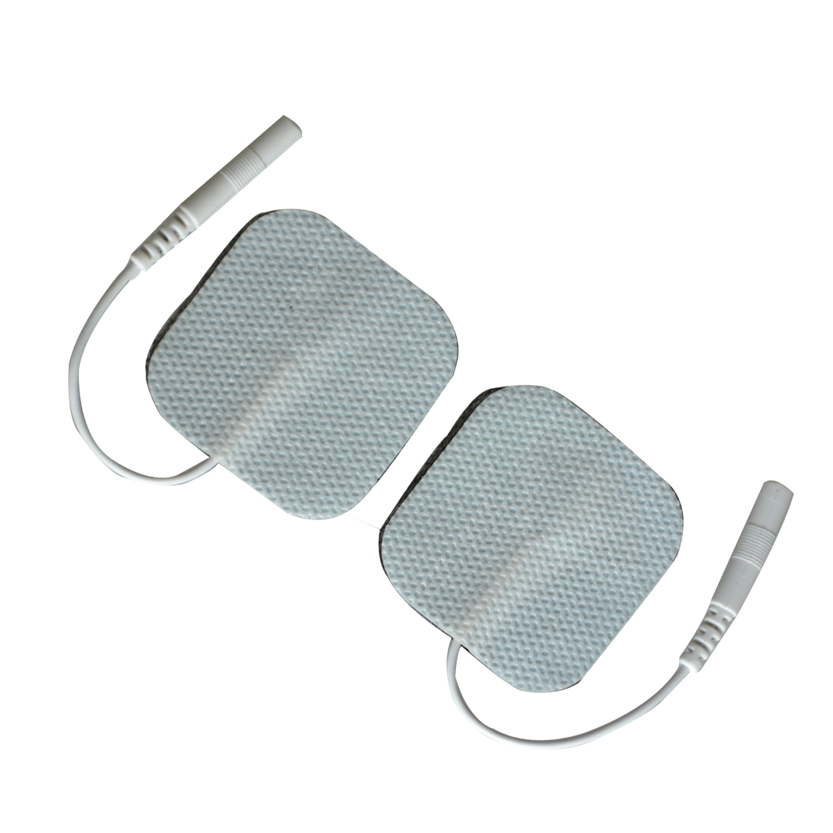 100Pairs/Pack Self Adhesive Electrode Pads Tens Electrodes For Digital Therapy Machine Massager 4*4cm Muscle Stimulator With 2mm hot electric slimming full body relax pulse muscle stimulator tens therapy machine massager vibrateur with 20pcs tens pads