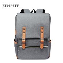 Купить с кэшбэком ZENBEFE New Design Backpacks 15 Inch Laptop Backpack Unisex Backpack For Student Business Backpacks Travel Rucksack School Bags