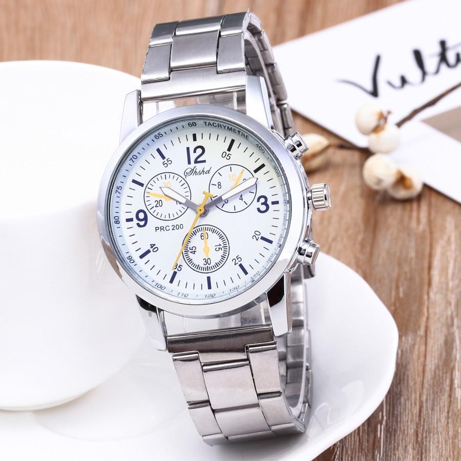 2019 Men Watches Stainless Steel Wrist Date Analog Quartz Watch Mens Brand Waterproof Clock Sport Wristwatches