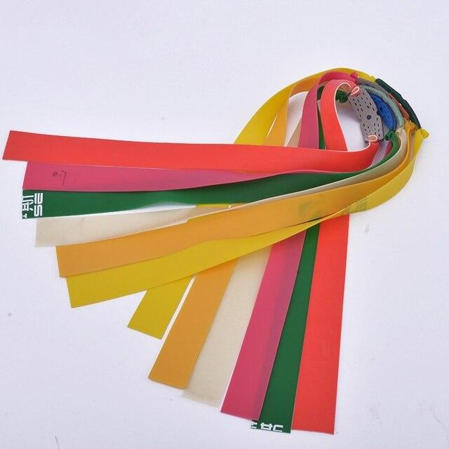 10 antiscivolo Slingshot Potente Elastico Elastico Piatto Pratico Spessore Attrezzature bungee Catapulta Kit Set Per La Caccia Allaperto