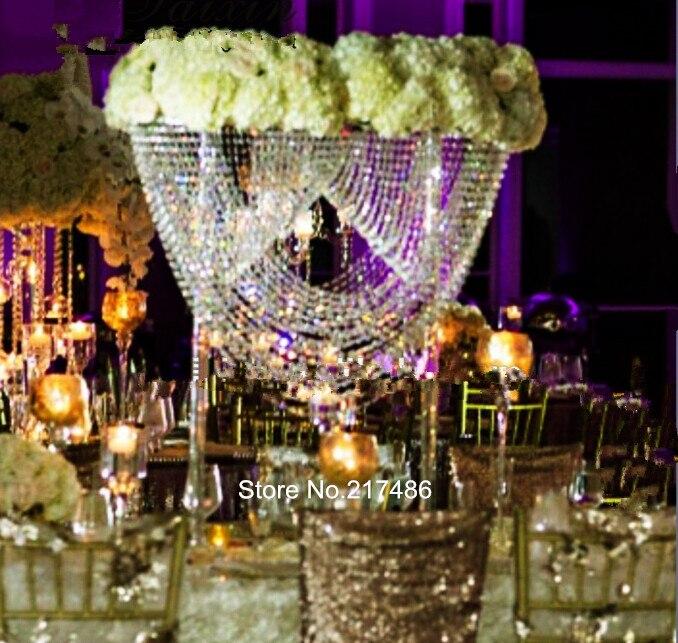 30 Days Sent Orderluxury Wedding Clear Candelabra And Flower Bowl Tall Centerpiece Stands Vase Centerpieces Wholesale