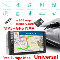 Bluetooth Car Touch Screen Stereo Audio Video Receiver Player 7 Inch 2 Din In Dash 1080P