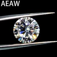 Круглая блестящая огранка 1.0ct карат 6,5 мм F, похожая на Charles Colvard Муассанит без огранки, камень отличного качества