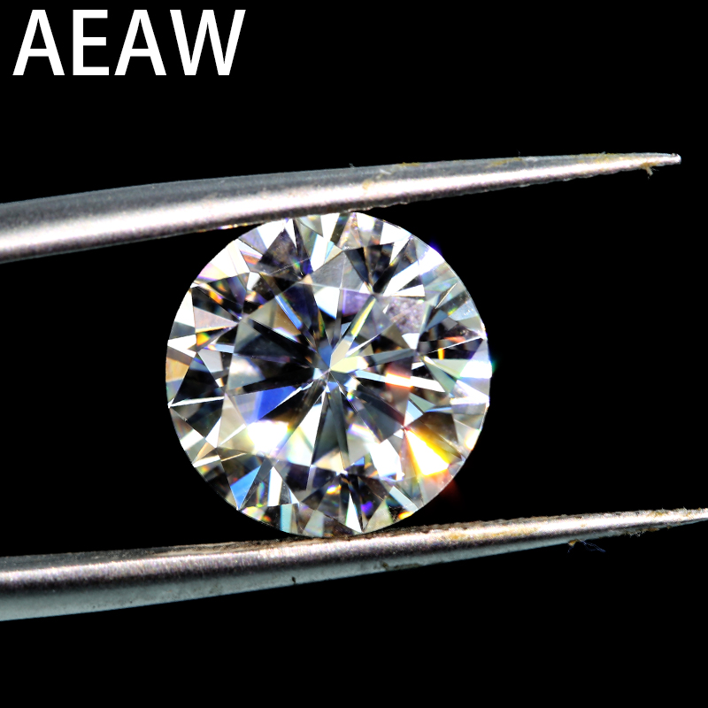 Round Brilliant Cut 1.0ct Carat 6.5mm EF Similar to charles colvard Moissanite Loose Stone Excellent Cut Grade Test Positive