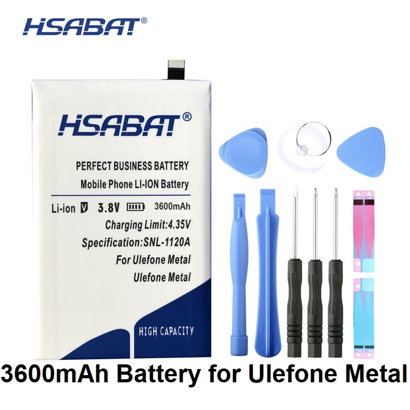 HSABAT 3600mAh Battery New Replacement Accessory Accumulator For Ulefone Metal