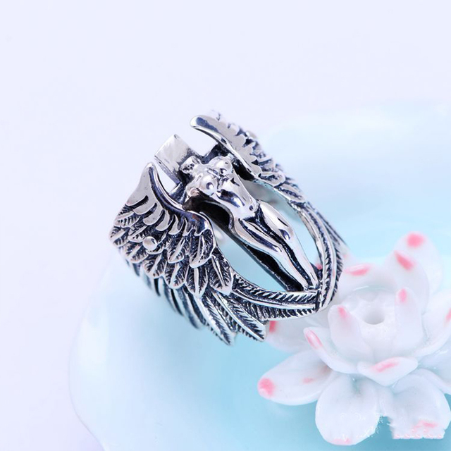 brixini.com - Vintage Holy Headless Guardian Angel Ring
