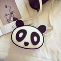 2016 lovely Mini Animal prints Bags PU leather Panda Messenger Bags Fashion Circular handbags black and white bag