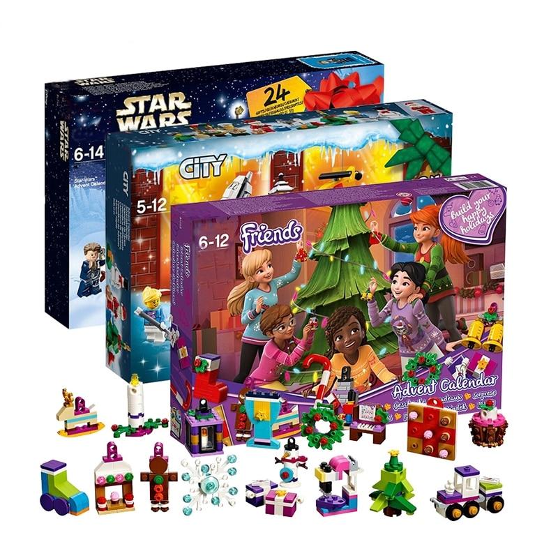 Friends Advent Calendar Girl Star Wars City Set Building Block Bricks Christmas Xmas Gift Compatible With Lego 75213 41353