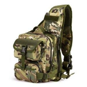 Duża torba na jedno ramię torba podróżna wysokiej jakości torba na laptopa wielofunkcyjna męska torba na klatkę piersiowa kamuflaż odporny na zużycie