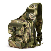 large chest one shoulder bag Travel backpack high grade Laptop bag multi-functional male chest bag camouflage wearproof