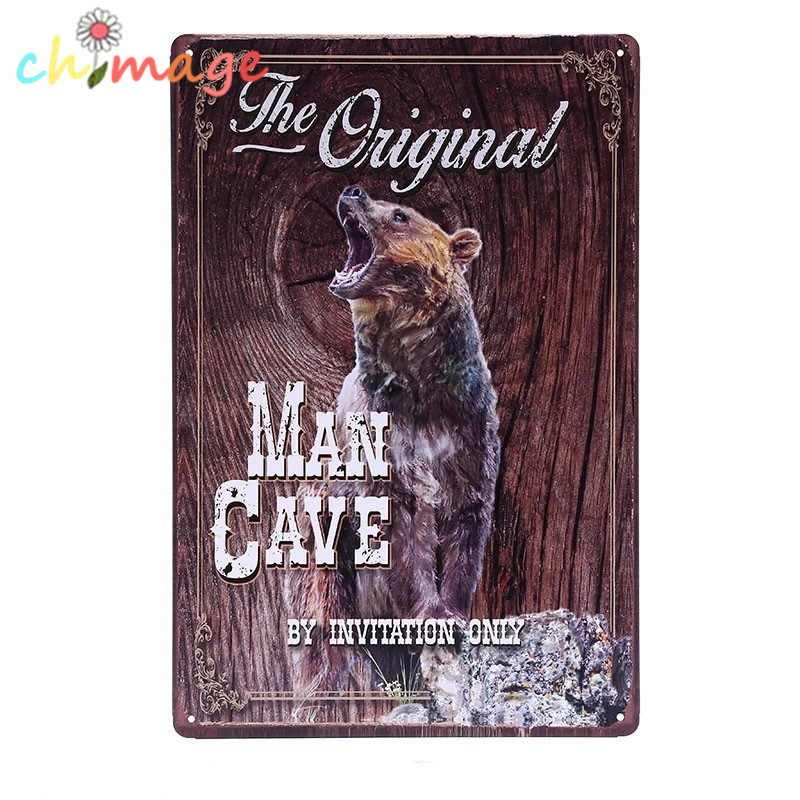 THE ORIGINAL MAN CAVE VINTAGE Tin Sign Bar pub home Wall Decor Retro Metal ART Poster ...