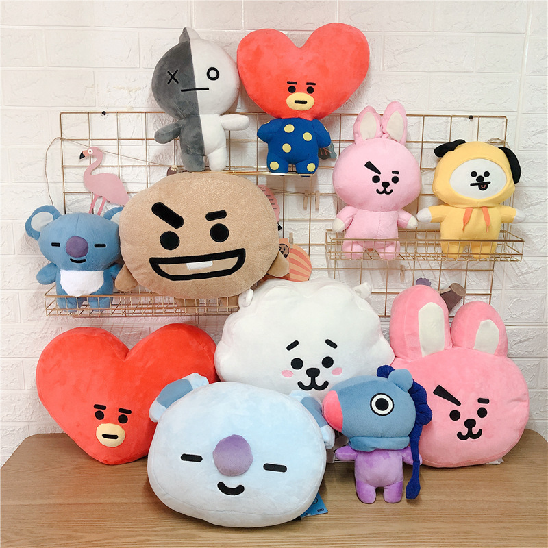 Novelty & Special Use Costumes & Accessories New Kpop Bangtan Boys Bts Bt21 Vapp Same Pillow Plush Cushion Warm Bolster Q Back Soft Stuffed Doll 25 Cm Tata Cooky Chimmy Strong Packing