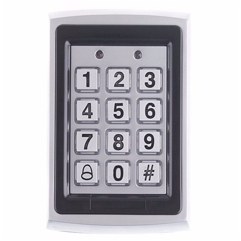 metal numeral keypad outdoor waterproof door access control system door locks for home office. Black Bedroom Furniture Sets. Home Design Ideas