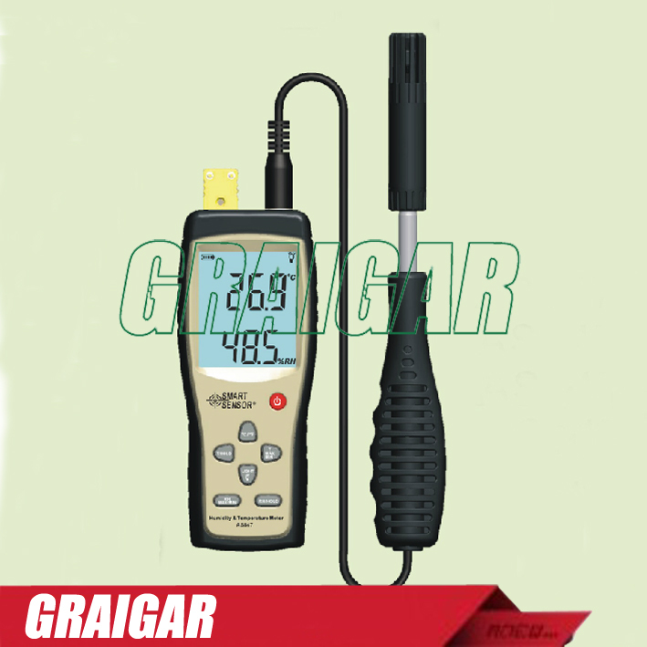 Smart Sensor AS847 Temperature Humidity Meter Tester 2in1 K Type Thermocouple -20C-1000C