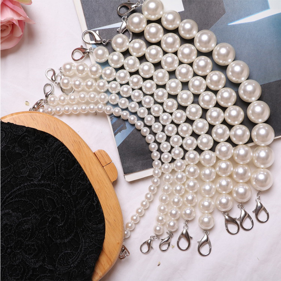 Luggage & Bags 10pcs Wholesale 15 Cm Pearl Candy Bead Metal Purse Frame Handle Silver Tone Glossy Long Feet Purse Frame Diy Bag Accessory Fixing Prices According To Quality Of Products