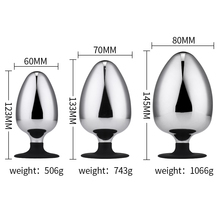 60/70/80mm Huge Metal Butt Plug Big Anal Anus Expander Dilatador Prostate Massager Male Masturbation Sex Toys For Men