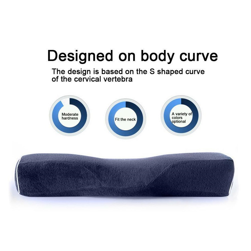 Neck and Back Support Hypoallergenic Bamboo Memory Foam Queen Size Bed Pillow