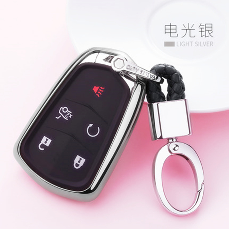 TPU Car Key Case Auto Key Protection Cover For Cadillac ATS L SRX CTS XTS SLS Car Holder Shell Colorful Car Styling Accessories in Key Case for Car from Automobiles Motorcycles