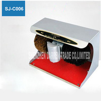 Nieuwe Hot Alle staal shell SJ-C006 schoenenpoets Automatische inductie Schoen shine machine Wasmachine AC220/50 HZ 45 W 1400 r/min