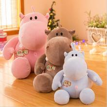 New Style Cute Hippo Short Plush Toys Stuffed Animal Doll Toy Plush Pillow Children Birthday & Christmas Gifts цена 2017