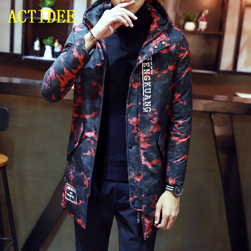 Mens Long Camouflage Warm  Winter Jackets and Coats Men Slim Fit Hood Thick Parka Fit Mens Lovers Coat Plus Size 3XL 4XL 5XL