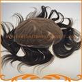 Швейцарский парики шнурка 100% Индийские волосы базовый размер 8*10 дюймов отбеливатель узел натуральный конский волос мужские парик бесплатная доставка