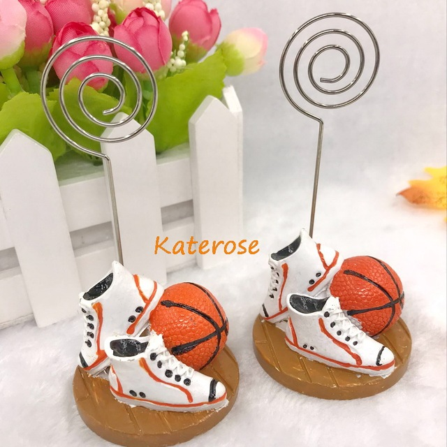 Free Shipping 16pcslot Basketball Themed Place Card Holderphoto