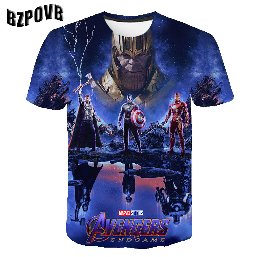 2019 New fashion design   t     shirt   men/women marvel Avengers Endgame 3D print   t  -  shirts   Short sleeve Harajuku style tshirt tops AS S