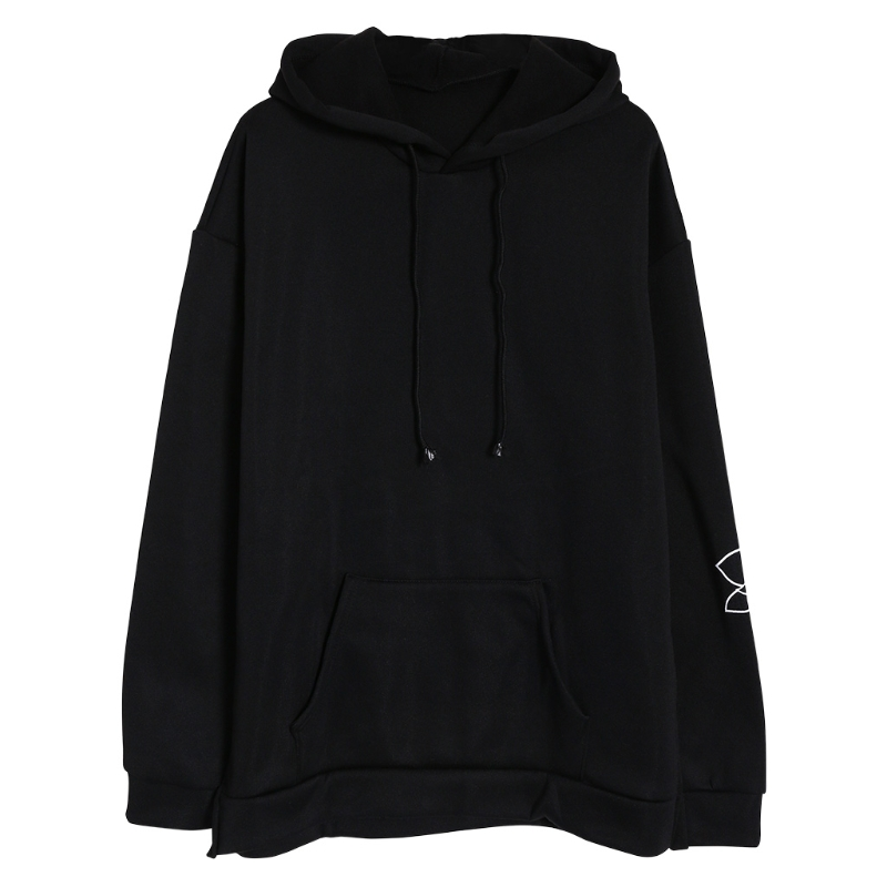 THINKTHENDO Men Long Sleeve Floral Embroidery Hoodie Sweatshirt Hooded Tops Jacket Pullover 2018 New