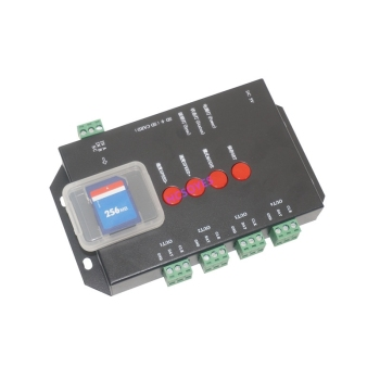 T4000S LED RGB Controller Configurable SD Card DC5V sk6812 WS2812B WS2811 WS2801 LP6803 led digital pixel strips