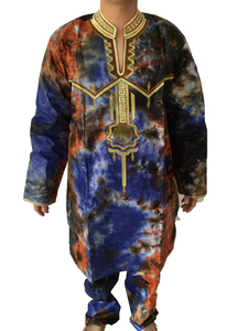 Image 2 - MD mens top pant set 2 pieces outfit suit african men clothes 2020 bazin african clothing for men dashiki shirt with trouser