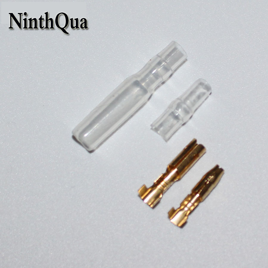 100 Sets =400pcs 3.5mm Bullet Terminal Car Electrical Wire Connector Diameter 3.5mm Pin Male & Female Kits