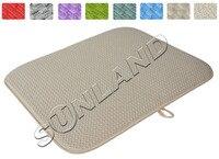 High Quality 40cmx46cm Dish Drying Mat For Kitchen Microfiber Cushion Pad XL Green
