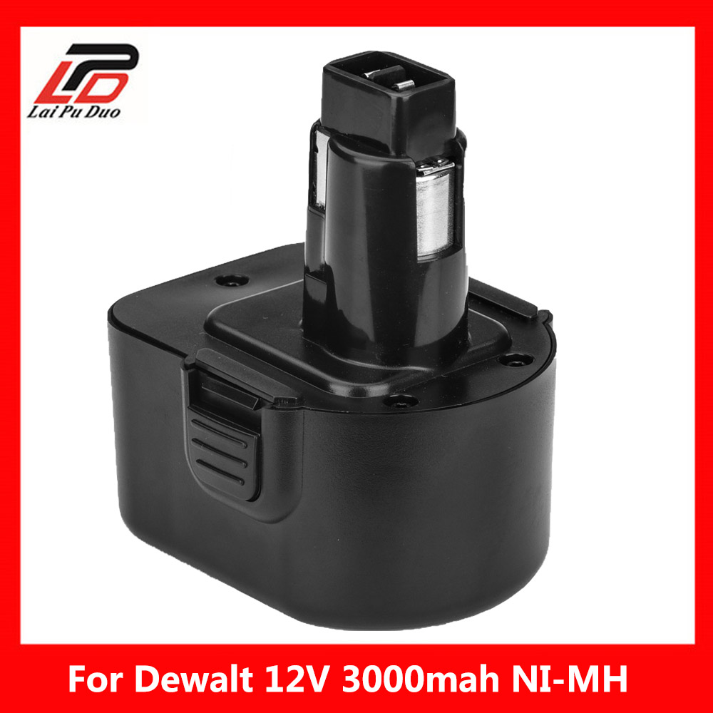 12 V 12 V 3000 mAh Ni-MH batería de la herramienta eléctrica para Dewalt DE9074 DC9071 DE9037 DE9071 DE9075 DW9071 DC727 DC756 DC980 DC981 DW051 DW9072 DW9074