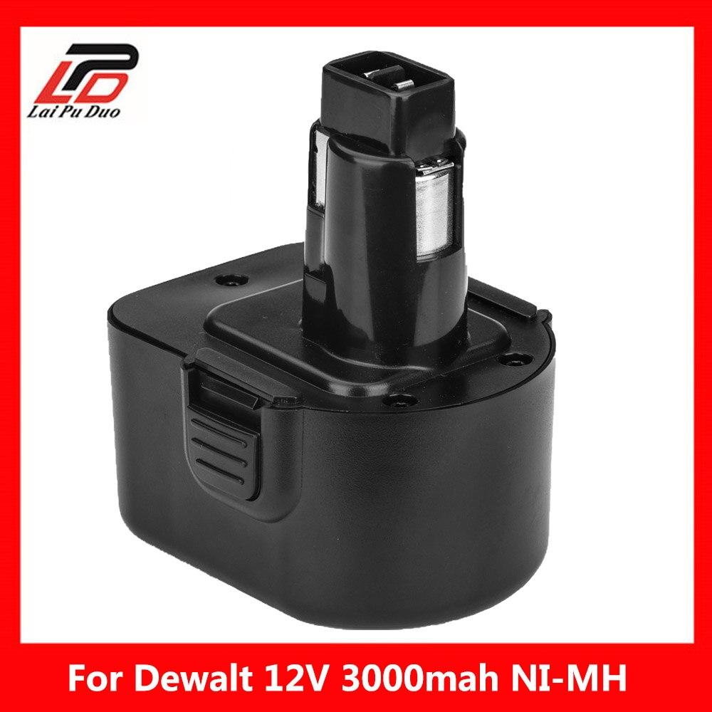 Bateria da ferramenta de 12 v 3000 mah ni-mh para dewalt de9074 dc9071 de9037 de9071 de9075 dw9071 dc727 dc756 dc980 dc981 dw051 dw9072 dw9074