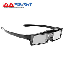 VIVIBRIGHT LCD Active 3D Glasses Built-in Lithium Battery. Shutter Glasses Use for All DLP Projector,