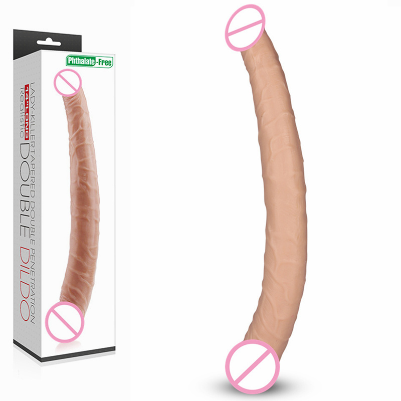 lovetoy Sex Product 35.5cm Flexible Double Long Double Dildo Dong&Penis Lesbian Dual Penis Double Penetration Dildos for gay lesbian woman double ended dildo realistic penis big dick anal and vagina double dong penetration long dildos for women sex toys
