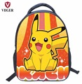 VIIGER Pokemon Pikachu Nylon School Bags Backpack Women Printing Backpacks for Teenage Girls Kids Boys Children Bag