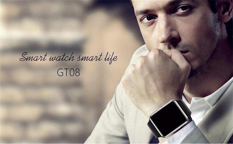 Original Smart Watch GT08 Clock Sim Card Push Message Bluetooth Connectivity For Android IOS apple Phone PK Q18 DZ09 Smartwatch (10)
