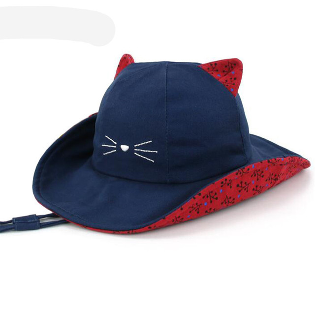 9e7b989b4 Nuevos niños Primavera Verano sol sombreros bebé de la historieta sombrero  de pescador viajes visera parabrisas