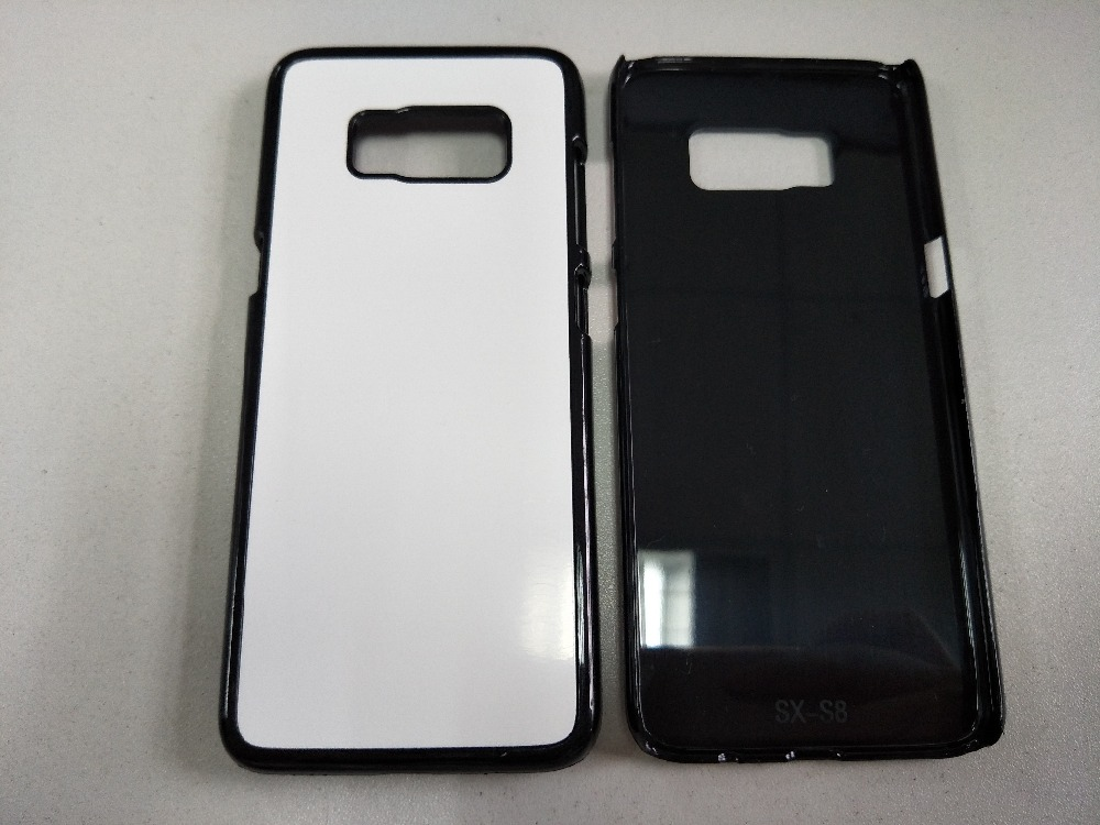 imágenes para Para samsung galaxy s8/s8 más 2d sublimación de plástico duro case con inserto de metal de aluminio en blanco imprimible placa 10 unids/lote