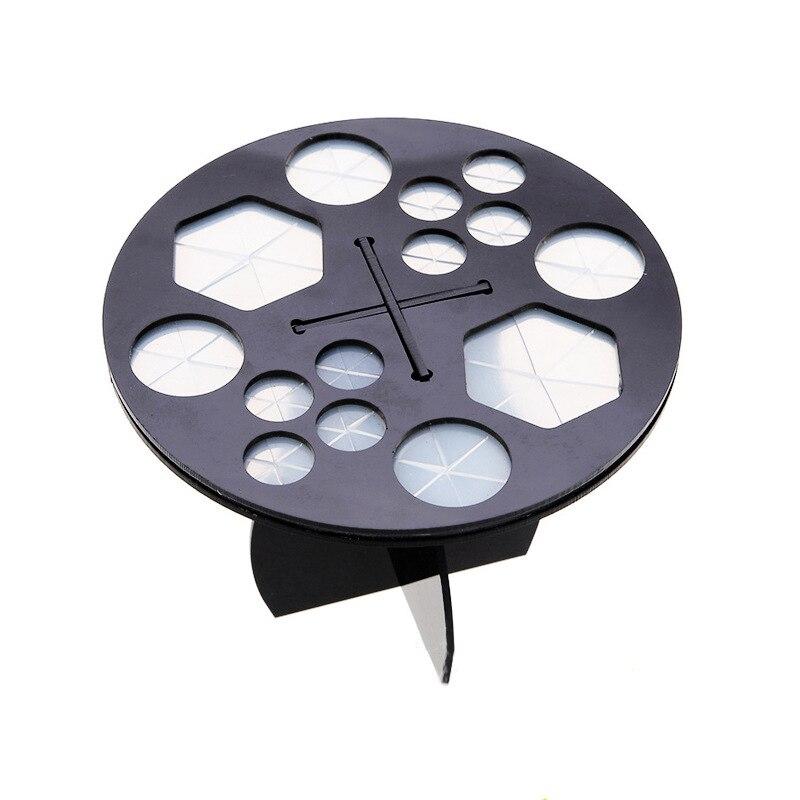 Кисти для макияжа стеллаж для хранения 14 отверстий акрил овальная кисть барабан кронштейн макияж инструменты