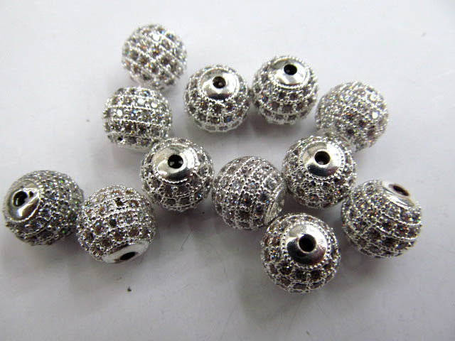 AAA grade pave metal spacer &cubic zirconia crysatl silver gold mixed jewelry beads 8mm 20pcsAAA grade pave metal spacer &cubic zirconia crysatl silver gold mixed jewelry beads 8mm 20pcs