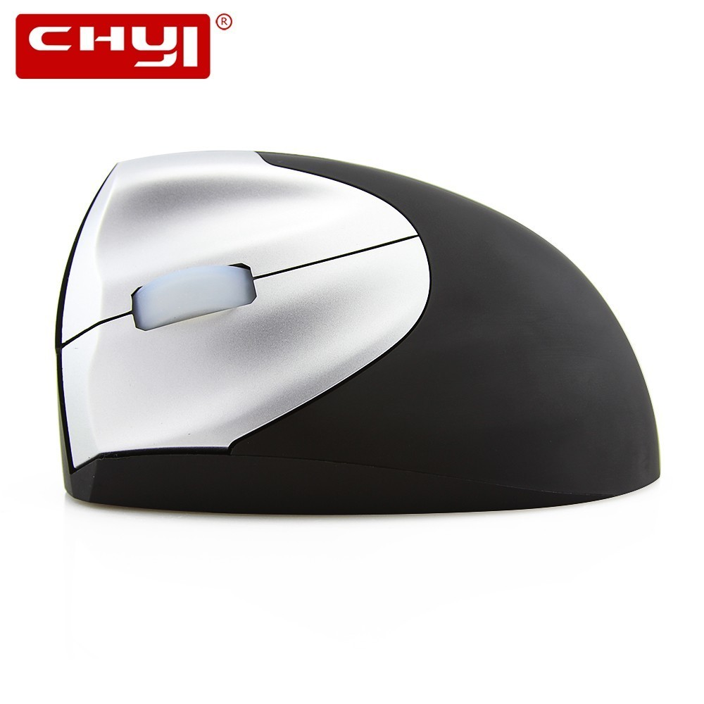 CHYI Wireless Left-hand Vertical Optical Mouse 2.4Ghz 1600DPI Ajustable Ergonomic Wrist Protecting Mice Left Hand Sem Fio Rato