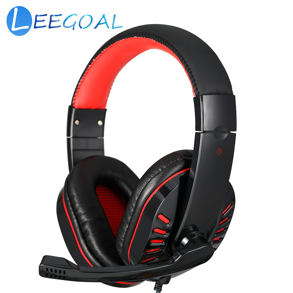 Gaming Headphone Live Chat Headset with Microphone Adjustable Volume Wired Headband for Laptop Tablet PC Gamer PS4 Slim / Pro