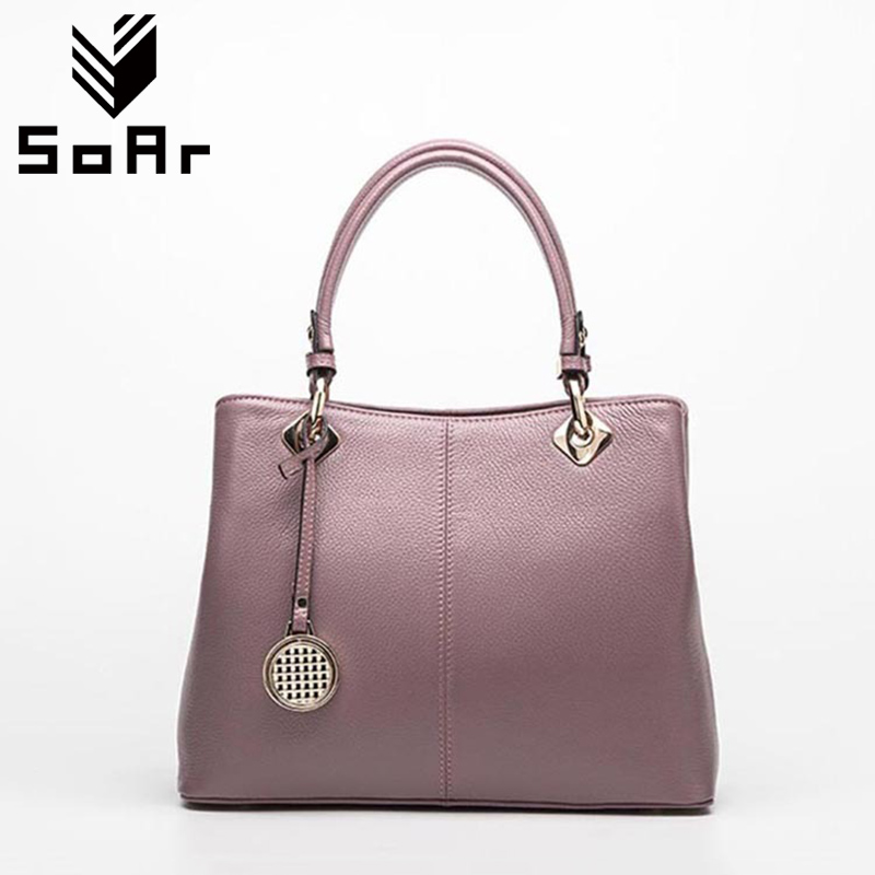 SoAr Genuine Leather Tote Bag Female Handbags Famous Brands Ladies Tote Sequined New Fashion Shoulder Crossbody Bags Leather Hot qiaobao 100% genuine leather handbags new network of red explosion ladle ladies bag fashion trend ladies bag