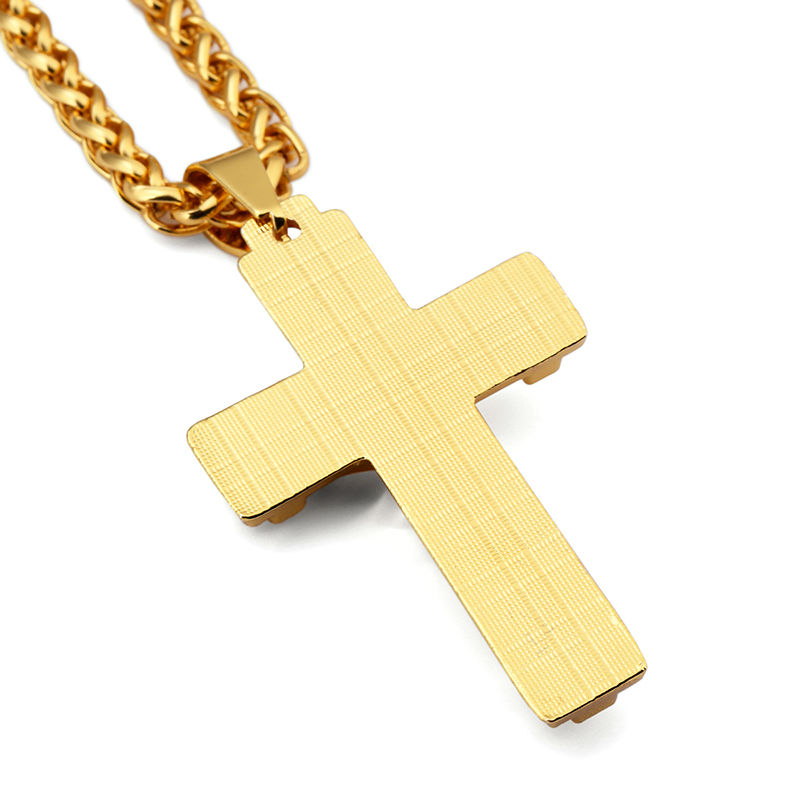 NYUK 10pcs Lot Cross Men Gold Jesus Cross Jewelry Jesus Portrait Necklace  Chain Women Christian Accessories Kedis Crucifix Gift-in Pendant Necklaces  from ... 067713791289